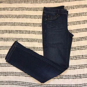 LOFT Modern Straight Dark Jeans